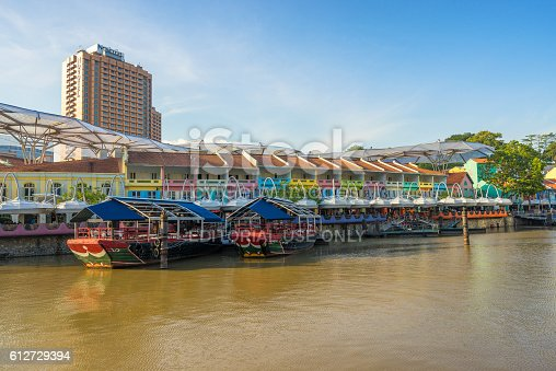 1097482486 istock photo Clarke Quay old port in Singapore 612729394