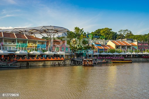 1097482486 istock photo Clarke Quay old port in Singapore 612729626