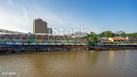 1097482486 istock photo Clarke Quay old port in Singapore 612729792