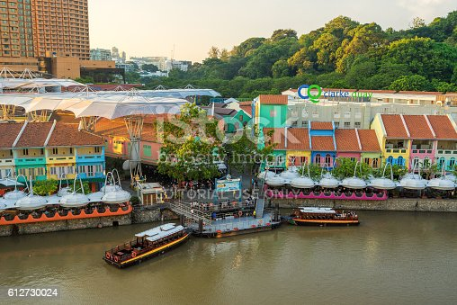 1097482486 istock photo Clarke Quay old port in Singapore 612730024