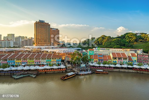1097482486 istock photo Clarke Quay old port in Singapore 612730126