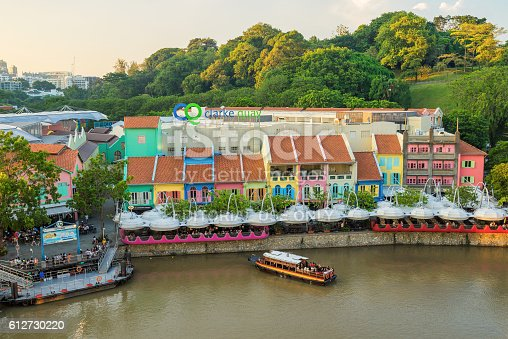 1097482486 istock photo Clarke Quay old port in Singapore 612730220
