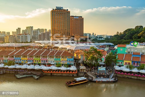 1097482486 istock photo Clarke Quay old port in Singapore 612730310