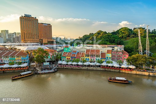 1097482486 istock photo Clarke Quay old port in Singapore 612730446