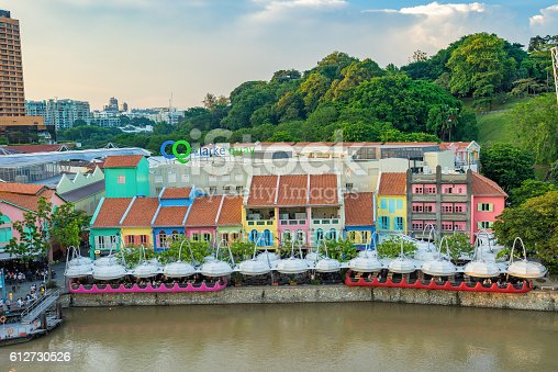 1097482486 istock photo Clarke Quay old port in Singapore 612730526