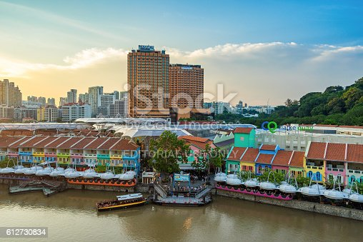 1097482486 istock photo Clarke Quay old port in Singapore 612730834