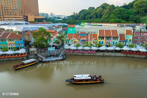 1097482486 istock photo Clarke Quay old port in Singapore 612730958