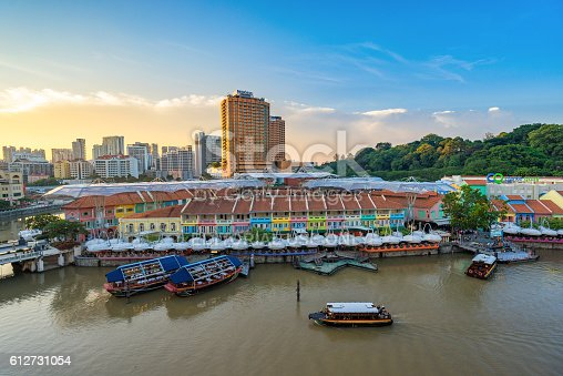 1097482486 istock photo Clarke Quay old port in Singapore 612731054