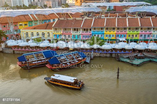 1097482486 istock photo Clarke Quay old port in Singapore 612731154