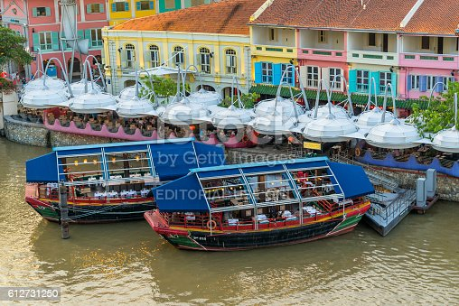 1097482486 istock photo Clarke Quay old port in Singapore 612731250