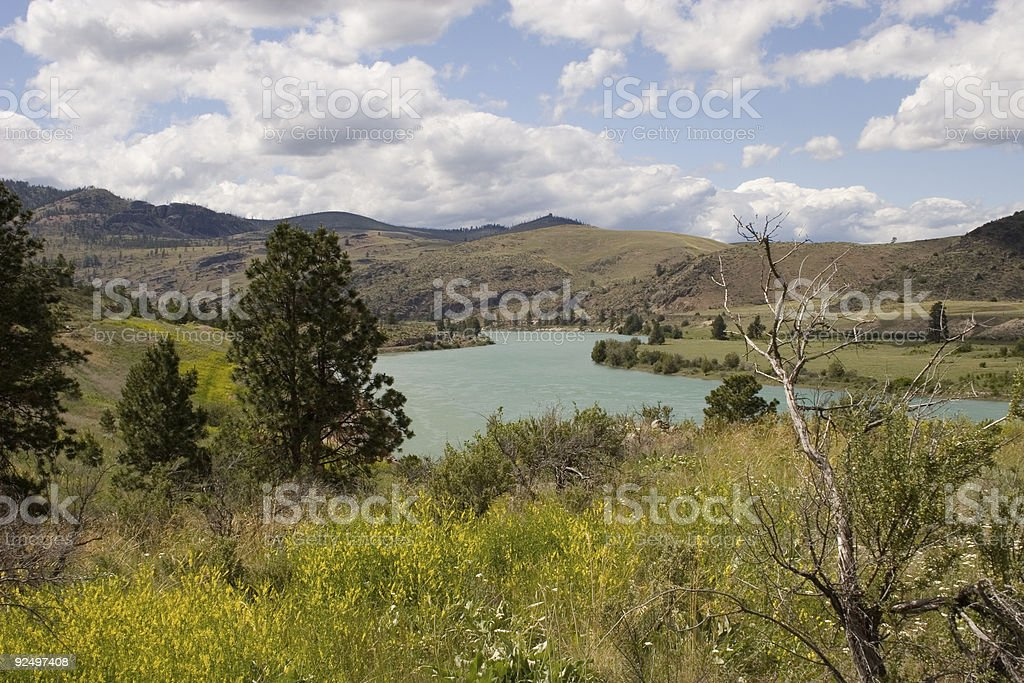 Clarks Fork of the Yellowstone River (horizontal orientation) royalty-free stock photo