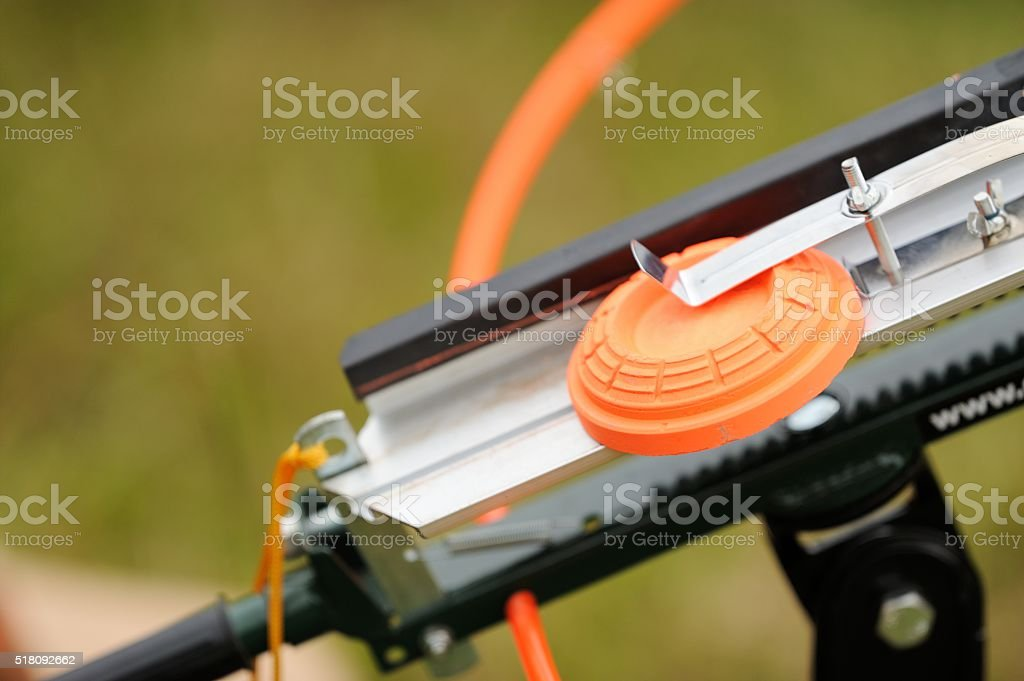 Clary target machine close up stock photo