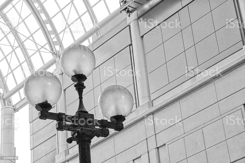 Clash of Old and New (B&W) royalty-free stock photo