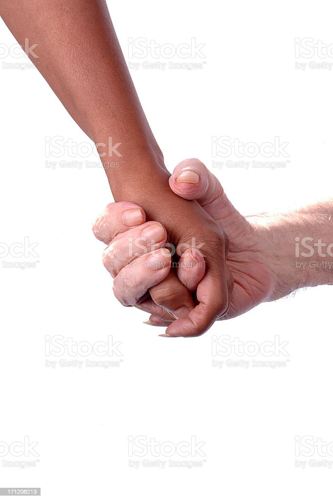 Clasping stock photo