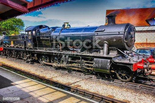 Minehead, UK - May 13, 2012: 1903 2-8-0 Class 2884 Steam locomotive at Minehead UK