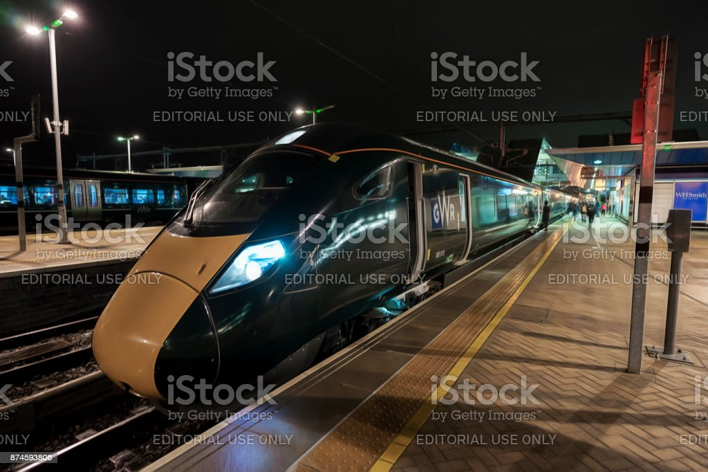 Class 800 GWR Inter City express at Reading stock photo