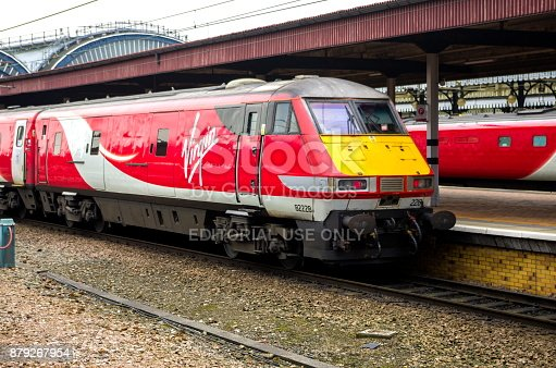 Iconic British High Speed Train, the Class 82 Driving Van Trailer, used on inter city Class 92 electric trains so they can be driven in both directions without moving the engine.
