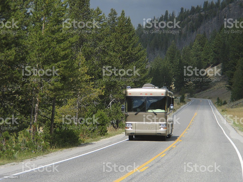 Class A Motorhome royalty-free stock photo