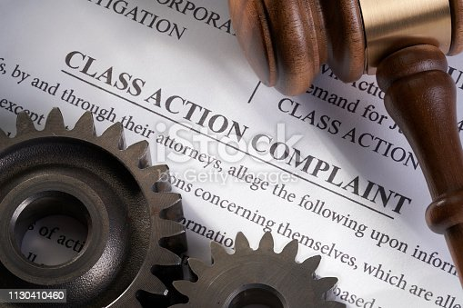 Class Action Lawsuit: Mechanical electrical concept for legal class action lawsuit for mechanical electrical