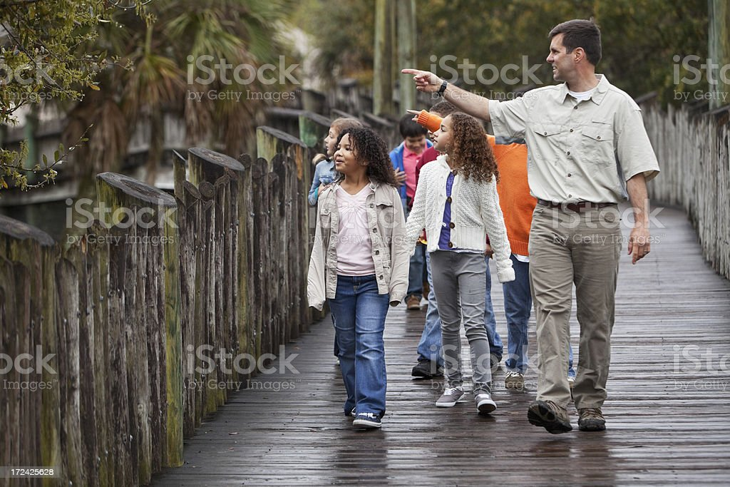 Class field trip stock photo