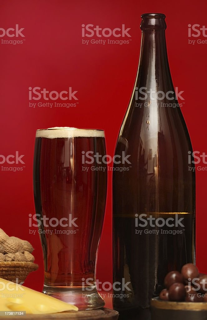 Class in a Glass ( Red Beer ) stock photo