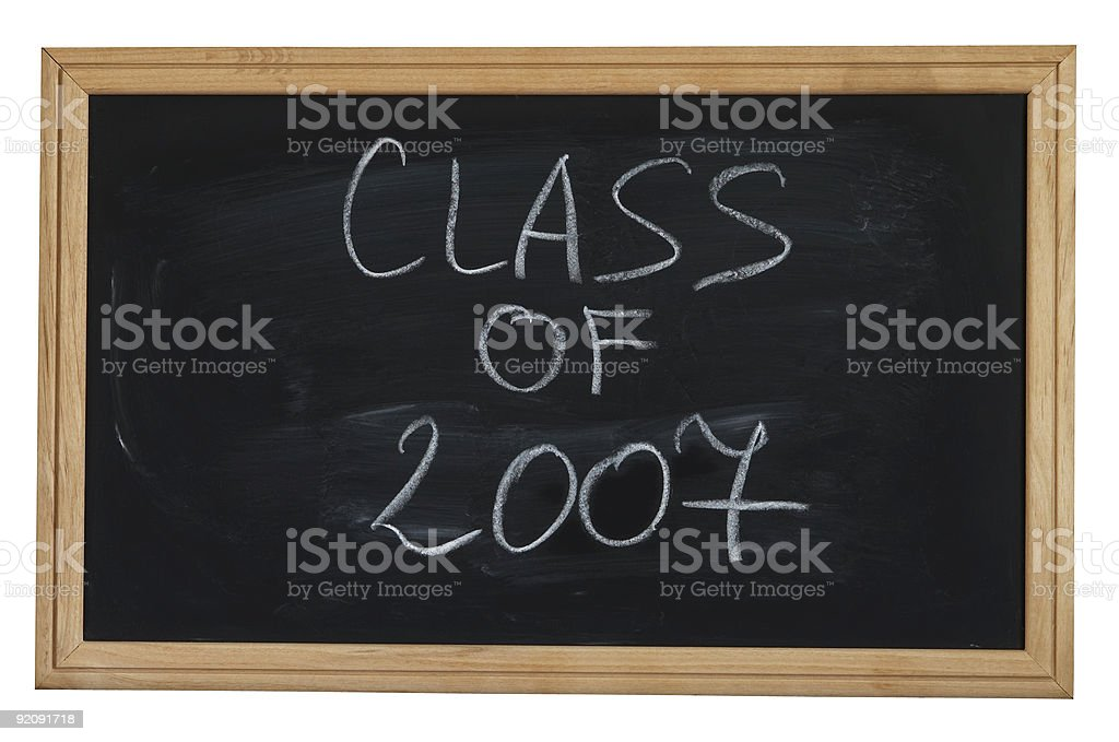 Class of 2007 royalty-free stock photo
