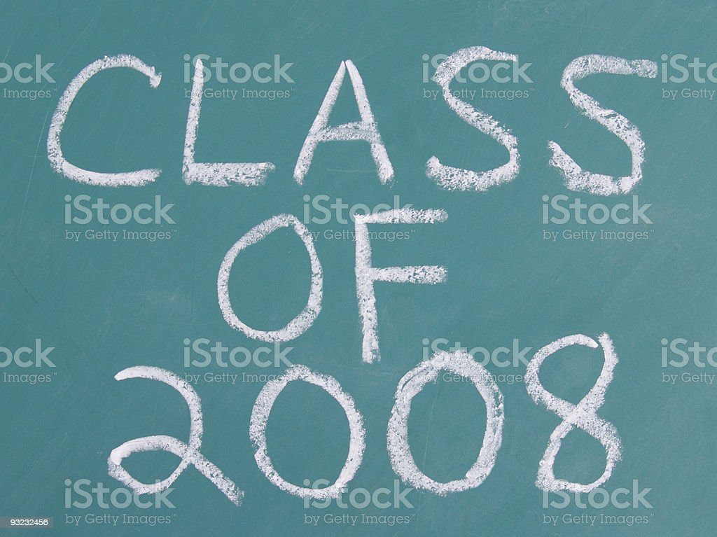 Class of 2008 royalty-free stock photo