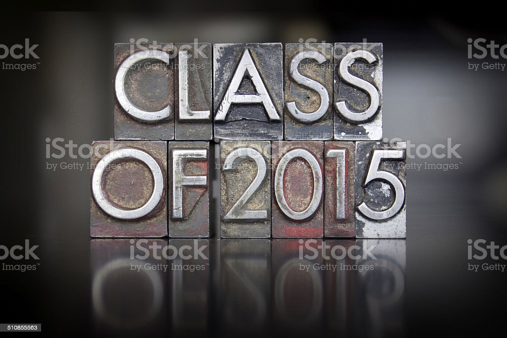 Class of 2015 Letterpress stock photo