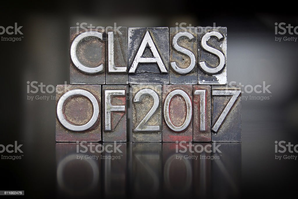 Class of 2017 Letterpress stock photo
