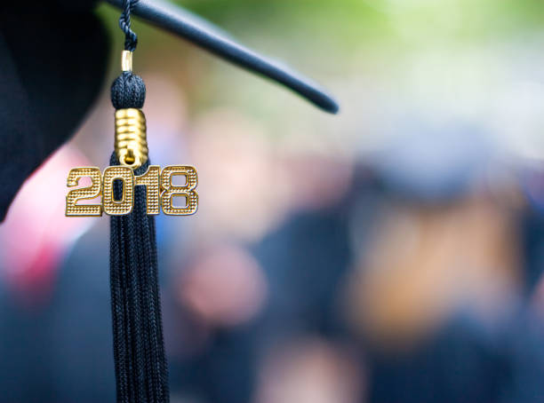Class of 2018 Graduation Ceremony Tassel Black stock photo
