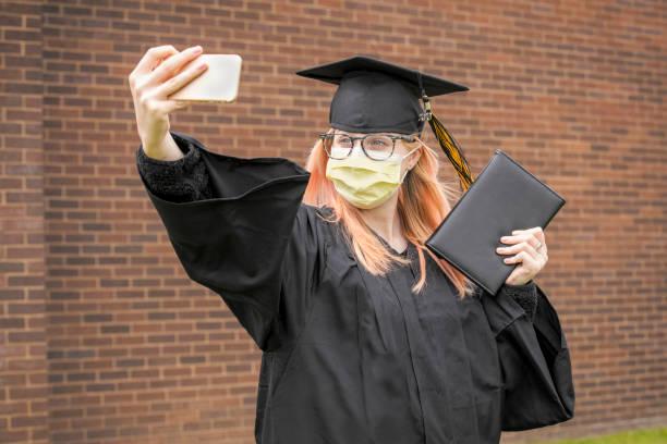 Class of 2020 Social Distancing Selfie stock photo