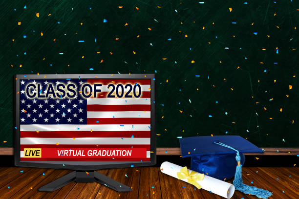 Class of 2020 Virtual Graduation Ceremonies Live Broadcast Due to Covid-19 stock photo