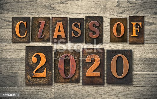 istock Class of 2020 Wooden Letterpress Type Concept 466089524