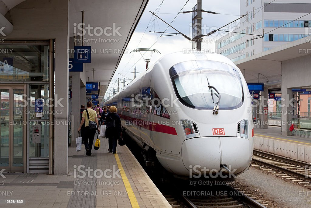 ICE-T class train, Linz, Austria royalty-free stock photo