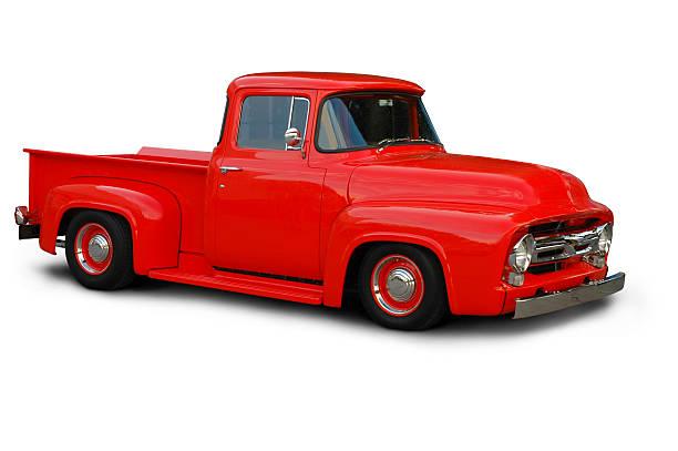 klassische 1954 ford f100 truck - alte wagen stock-fotos und bilder