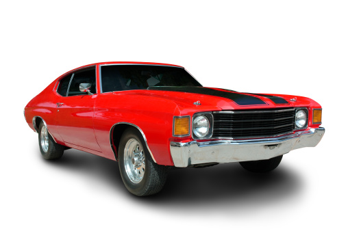 Classic 1971 Chevelle Muscle Car Stock Photo - Download Image Now