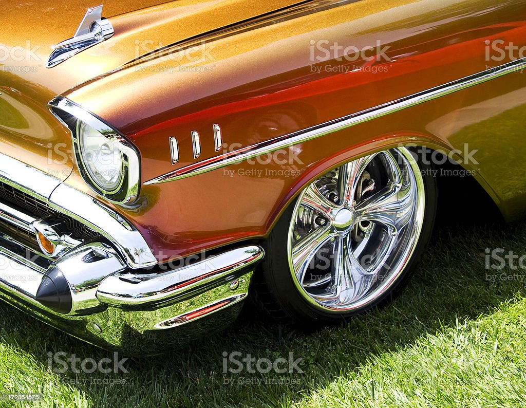 Classic 50's American Car stock photo