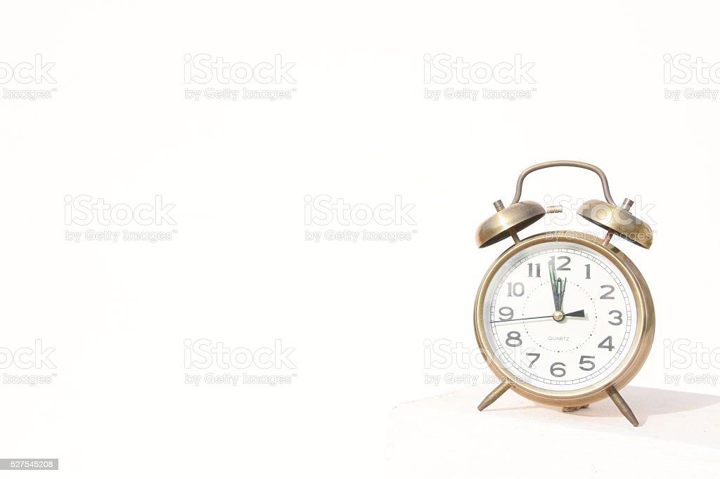 classic Alarm clock, Isolated on white stock photo