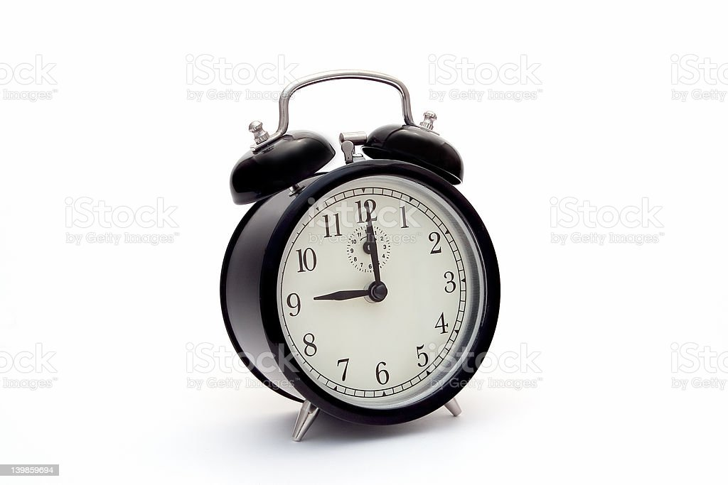 Classic alarm clock royalty-free stock photo