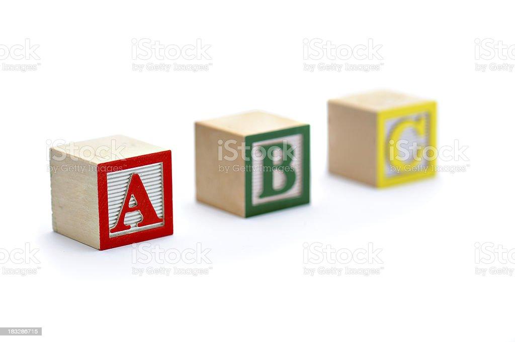 Classic Alphabet Blocks - A B C royalty-free stock photo
