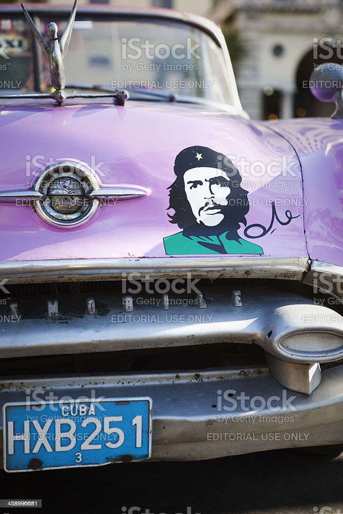 Classic American 1950s Automobile in Havana Cuba stock photo