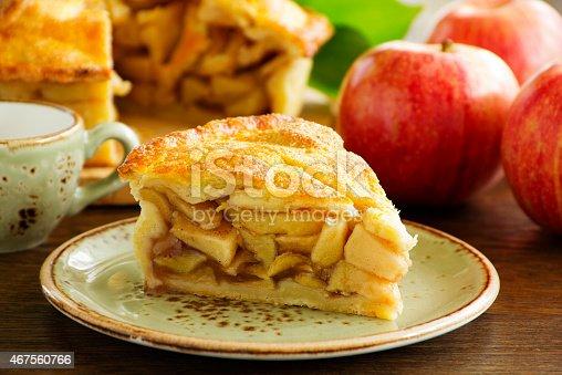 istock Classic American apple pie. 467560766