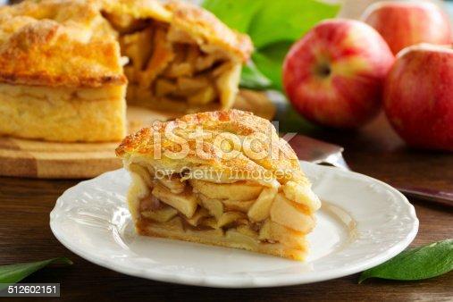 istock Classic American apple pie. 512602151