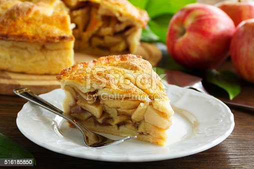 istock Classic American apple pie. 516185850