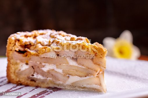 Classic tasty American apple pie