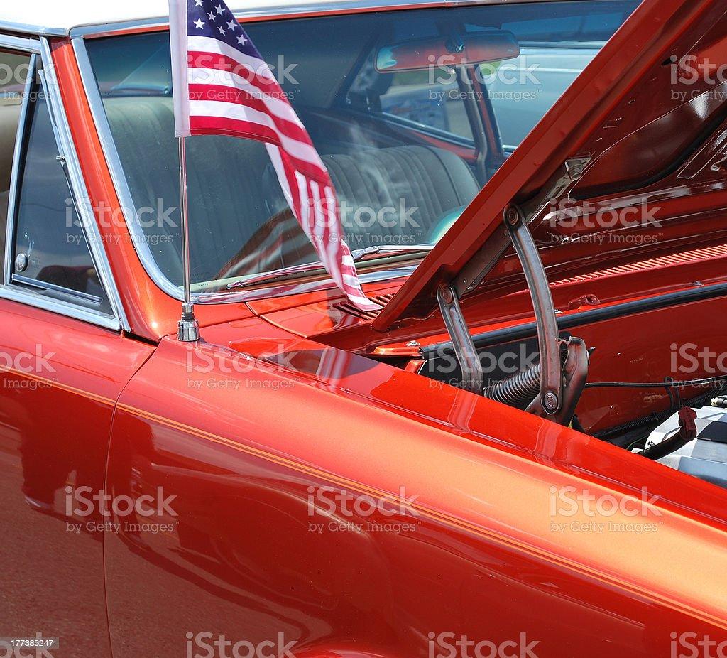 Classic american automobile. stock photo