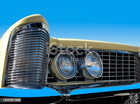 Classic American Cadillac rear end car detail