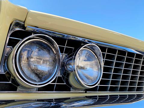Classic American Cadillac rear end car detail