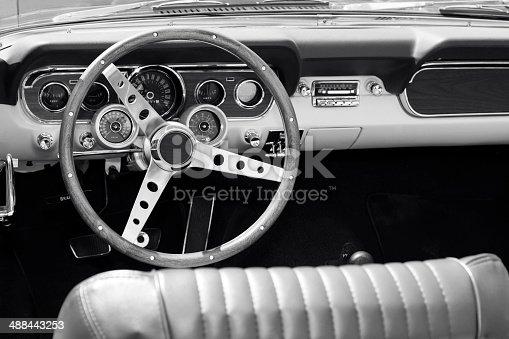 467735055 istock photo Classic American Car Interior 488443253