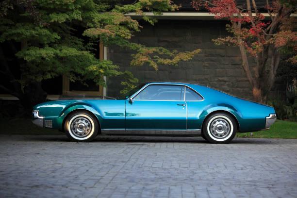 Klassische amerikanische Auto geparkt – Foto